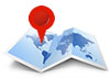 map icon with locator